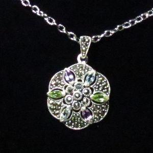 Jewelry - Amethyst, Aquamarine, & Peridot Gemstone Necklace